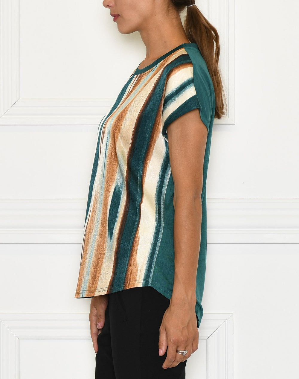 Culture CUmoira capsleeve june bug mix stripe - Online-Mode
