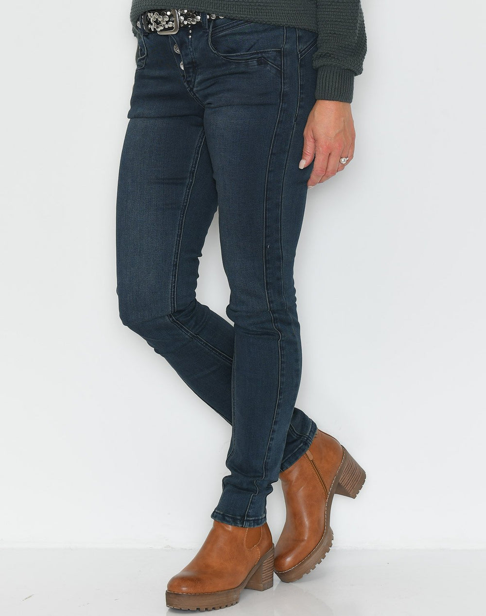 Culture CUnore slim fit jeans blue nights - Online-Mode