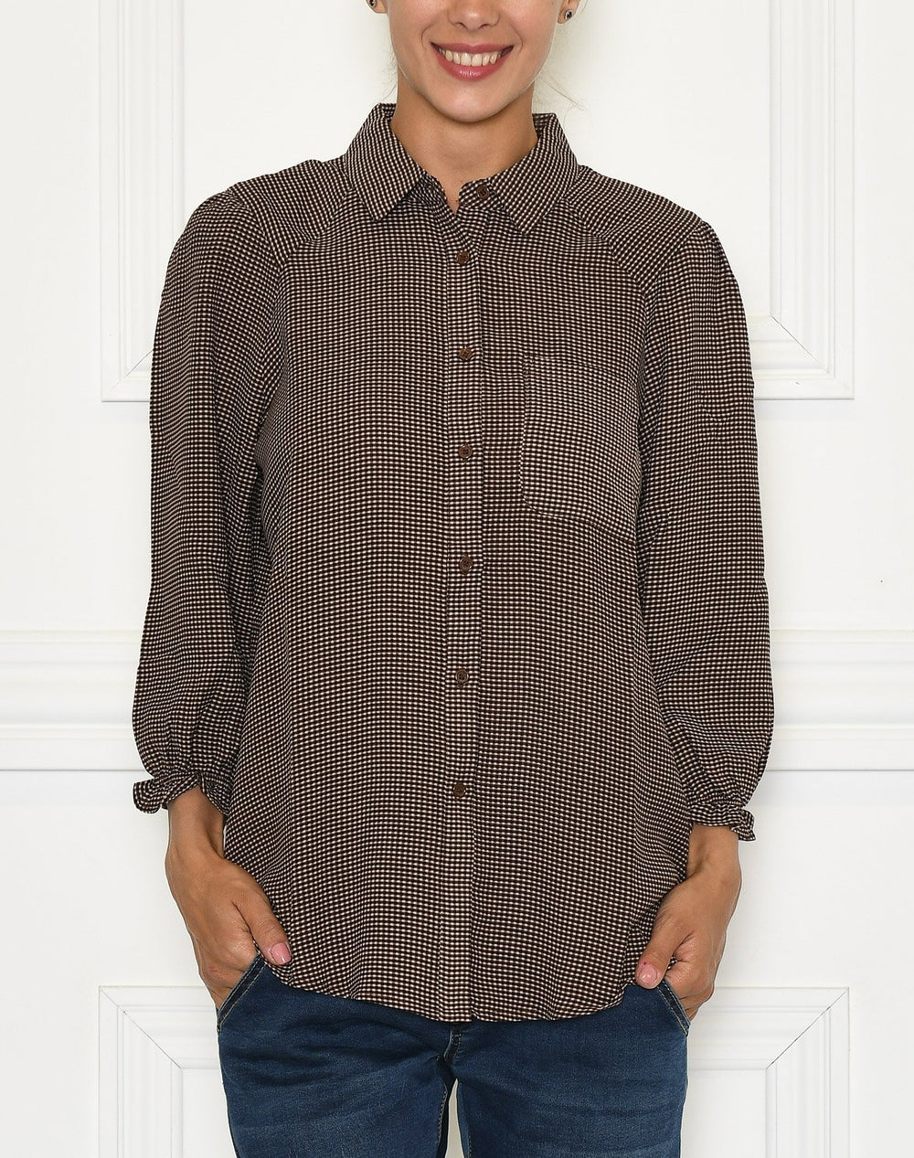 Culture CUraya shirt friar brown check - Online-Mode