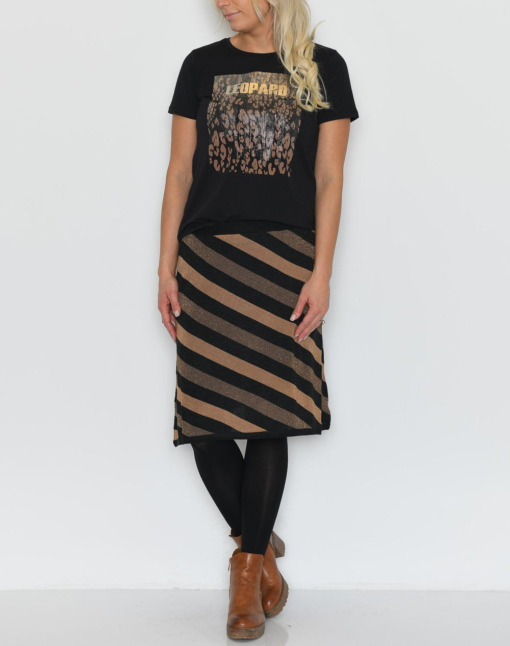 Culture CUute skirt black with lurex - Online-Mode