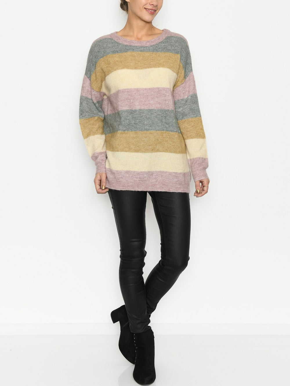 Culture CUzidsel striped pullover woodrose melange - Online-Mode