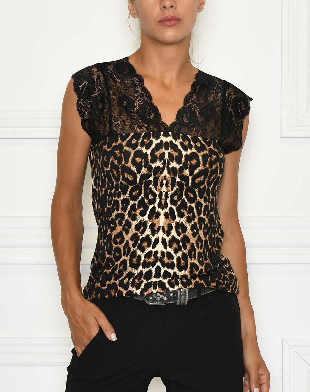 Culture Elona Leo Top black - Online-Mode