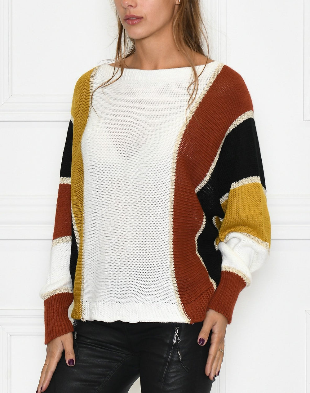 Dixie pullover white mix - Online-Mode