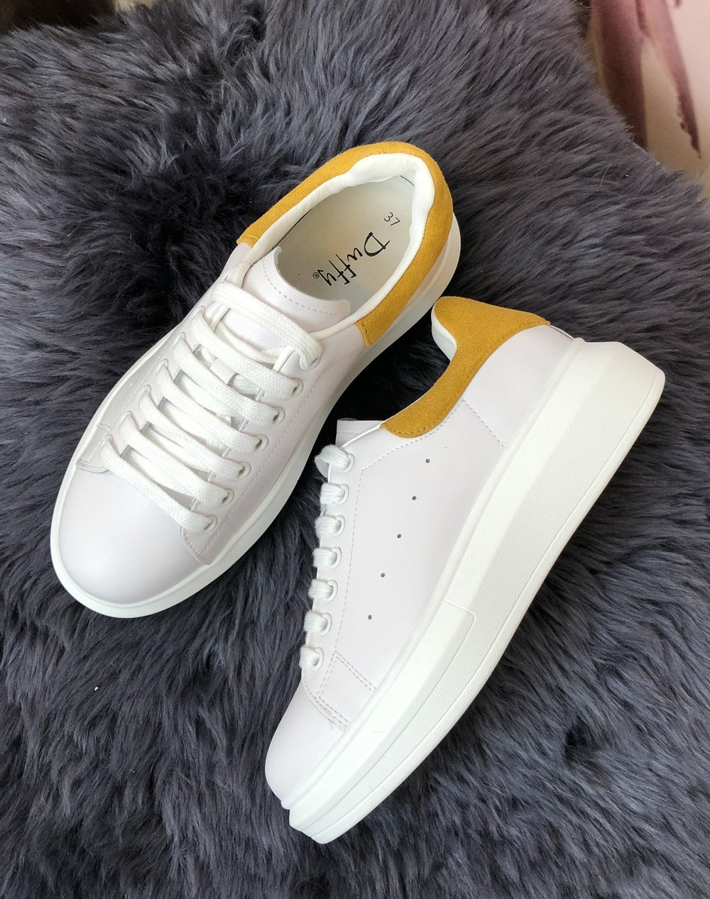 Duffy 7520131 sneakers white/yellow - Online-Mode