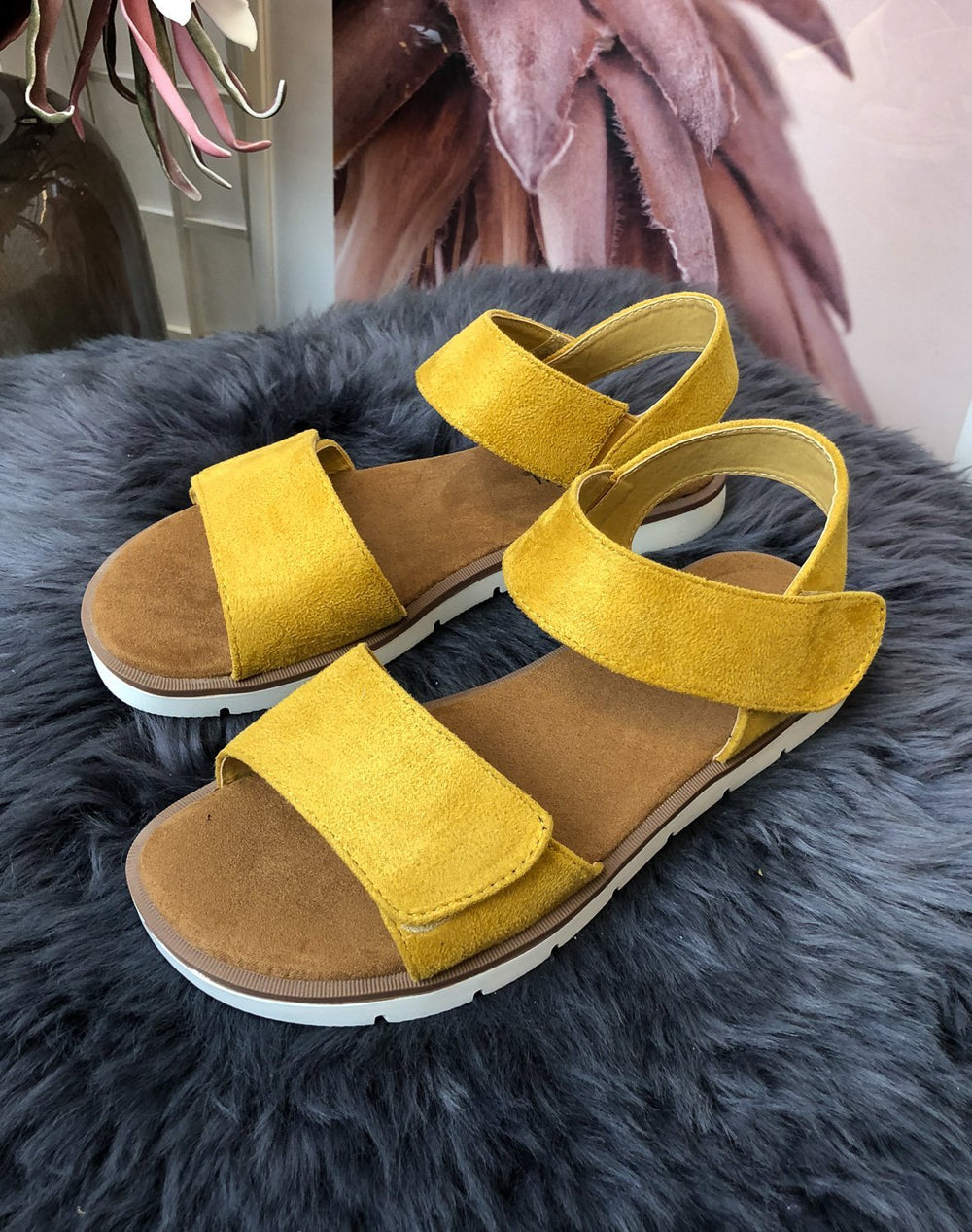 Duffy 7599501 sandal yellow - Online-Mode