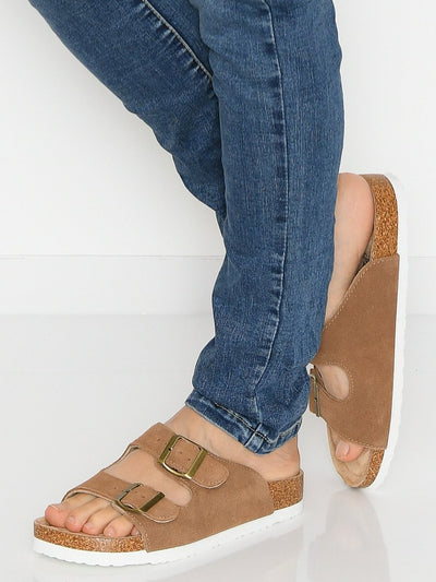 Duffy 8619336 slip in sandal brown - Online-Mode