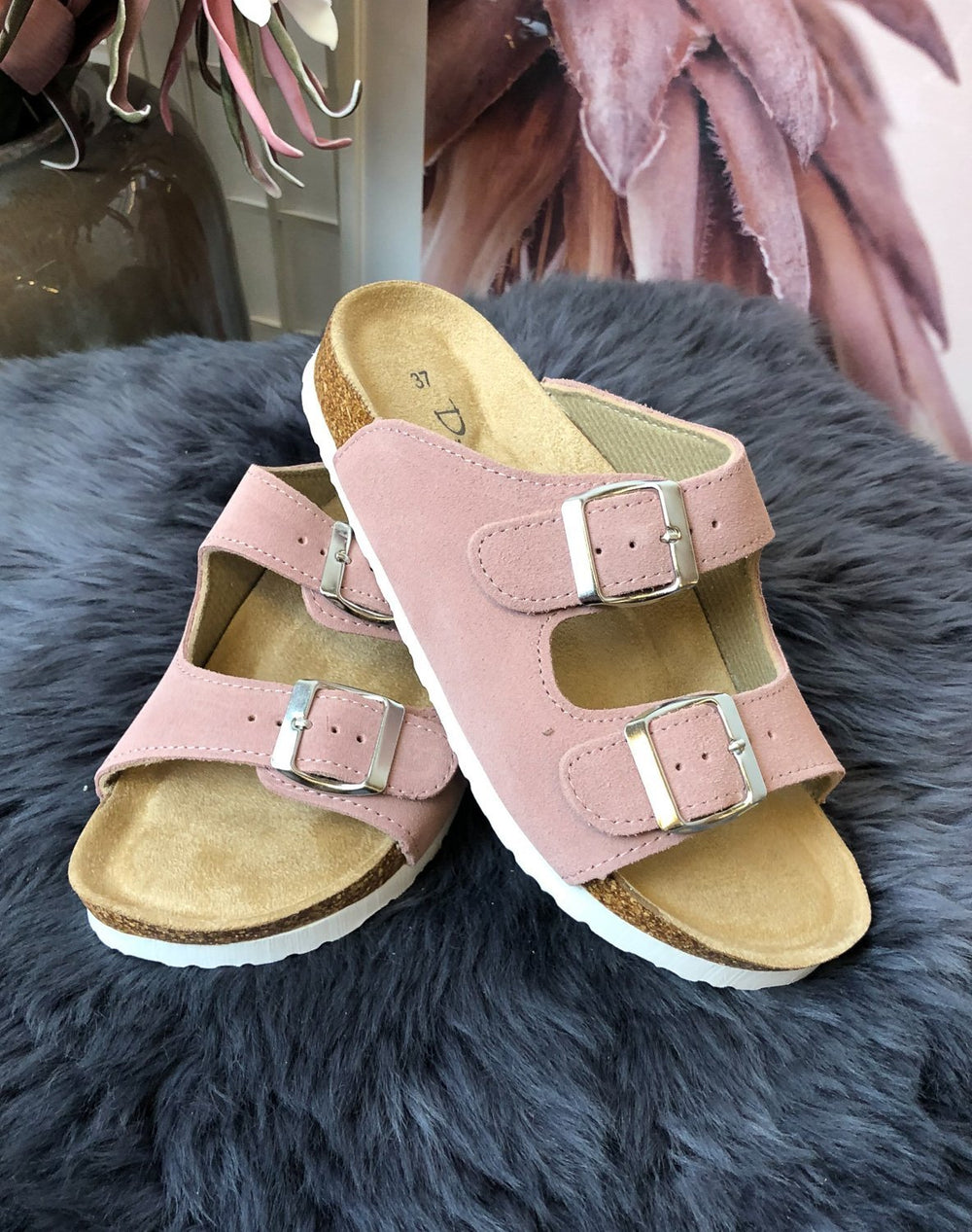 Duffy 8619336 slip in sandal light pink - Online-Mode