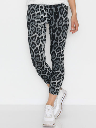 Fransa FAlegging 2 leggings grey animal mix - Online-Mode
