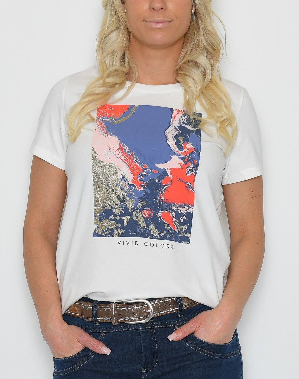 Fransa FRhihenri 1 t-shirt antique w. watercolor - Online-Mode