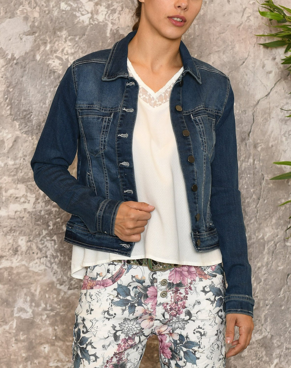 Fransa FRivstitch 1 jacket simple blue denim - Online-Mode