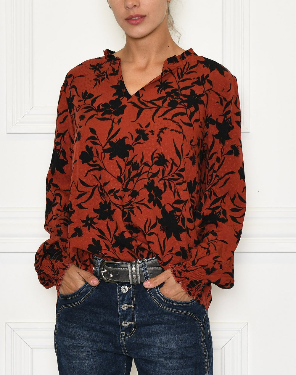 Fransa FRLAVISCO 1 top barn red mix - Online-Mode