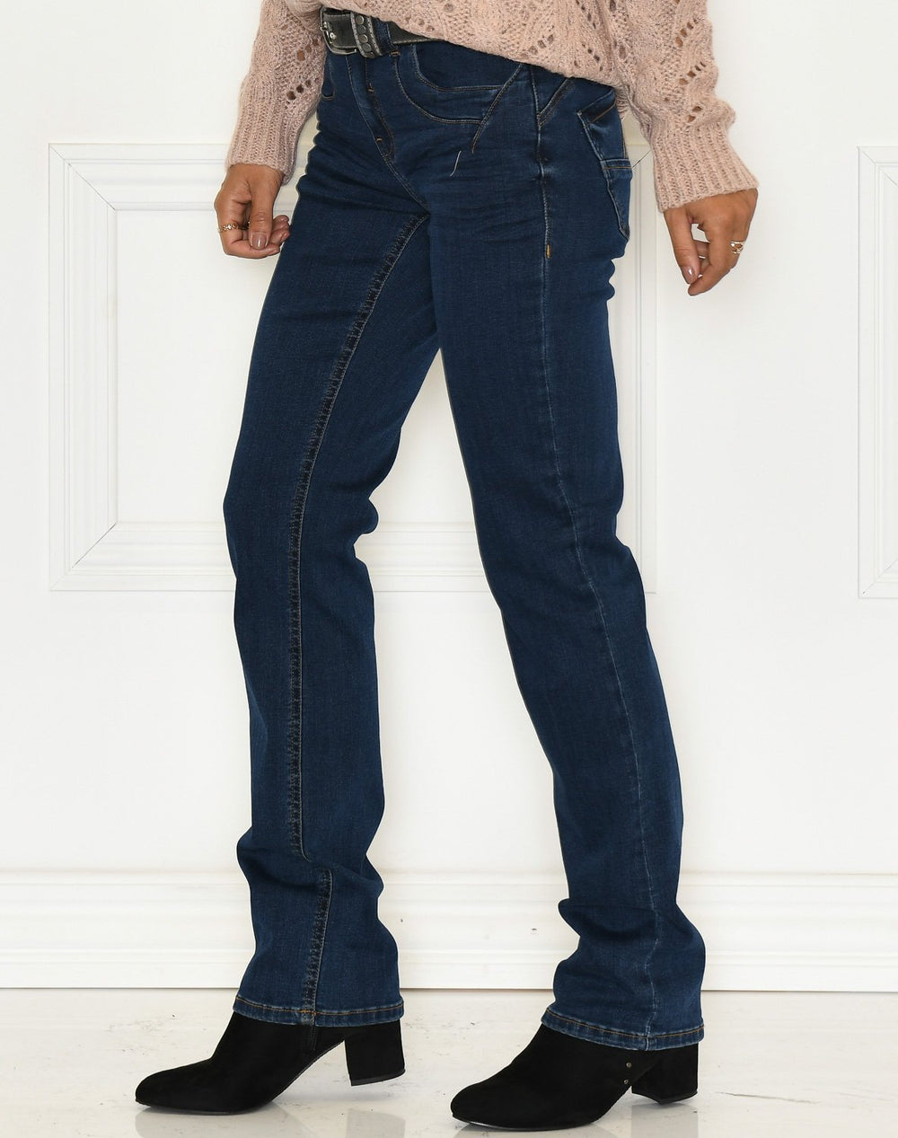 Fransa FRLover 4 pants glossy blue denim - Online-Mode