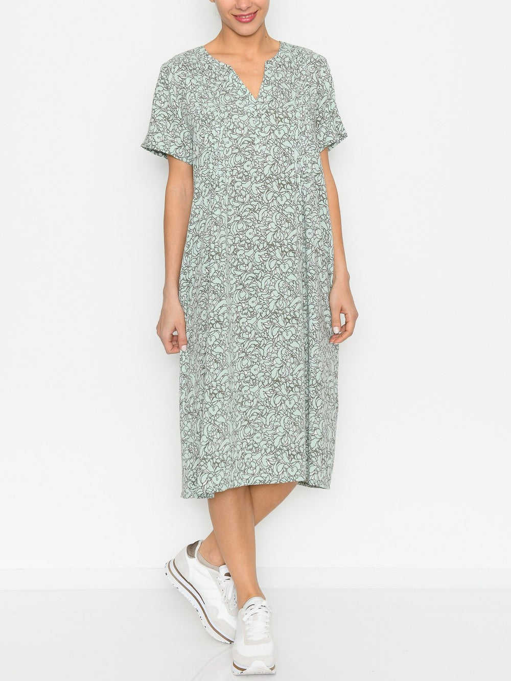 Fransa FRvaleaf 4 dress aqua foam mix - Online-Mode