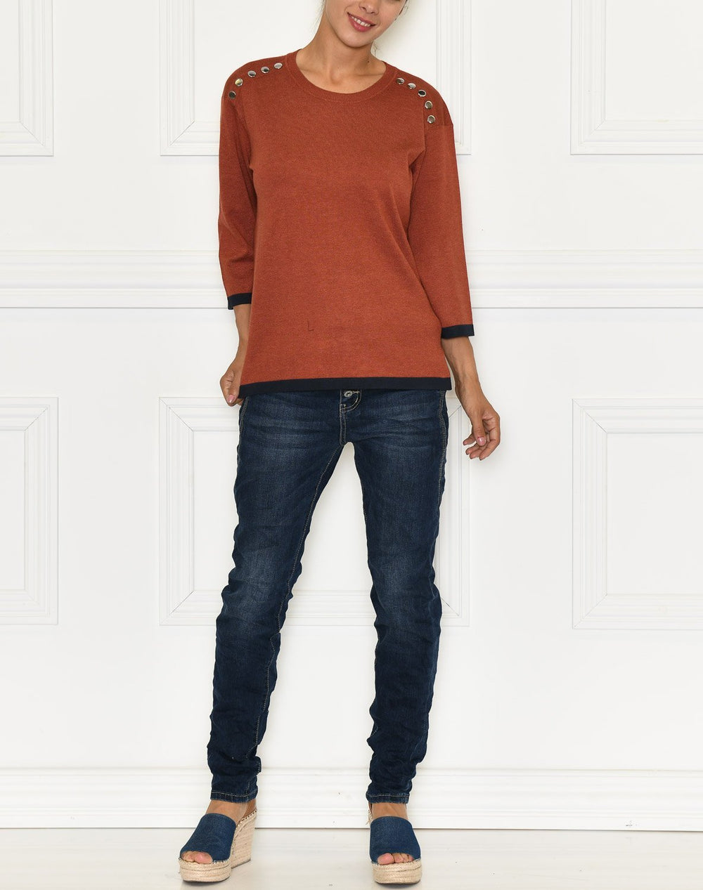 Fransa Zubasic 115 pullover barn red melan - Online-Mode