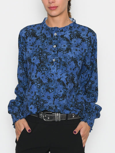 Gracie bluse flower print 6 navy mix - Online-Mode