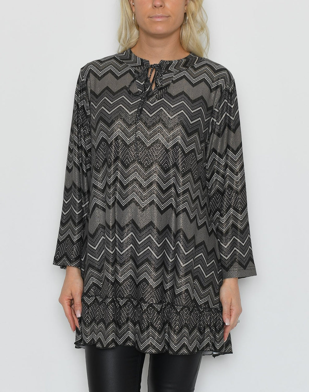 Henrietta dress grey mix - Online-Mode