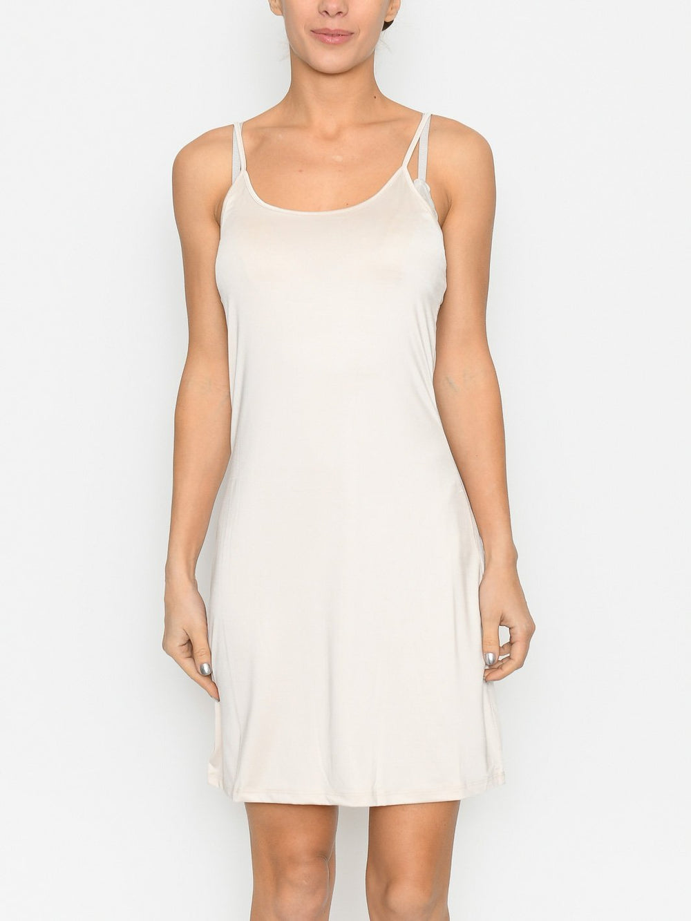 Ichi IAluisa loose slip dress natural - Online-Mode