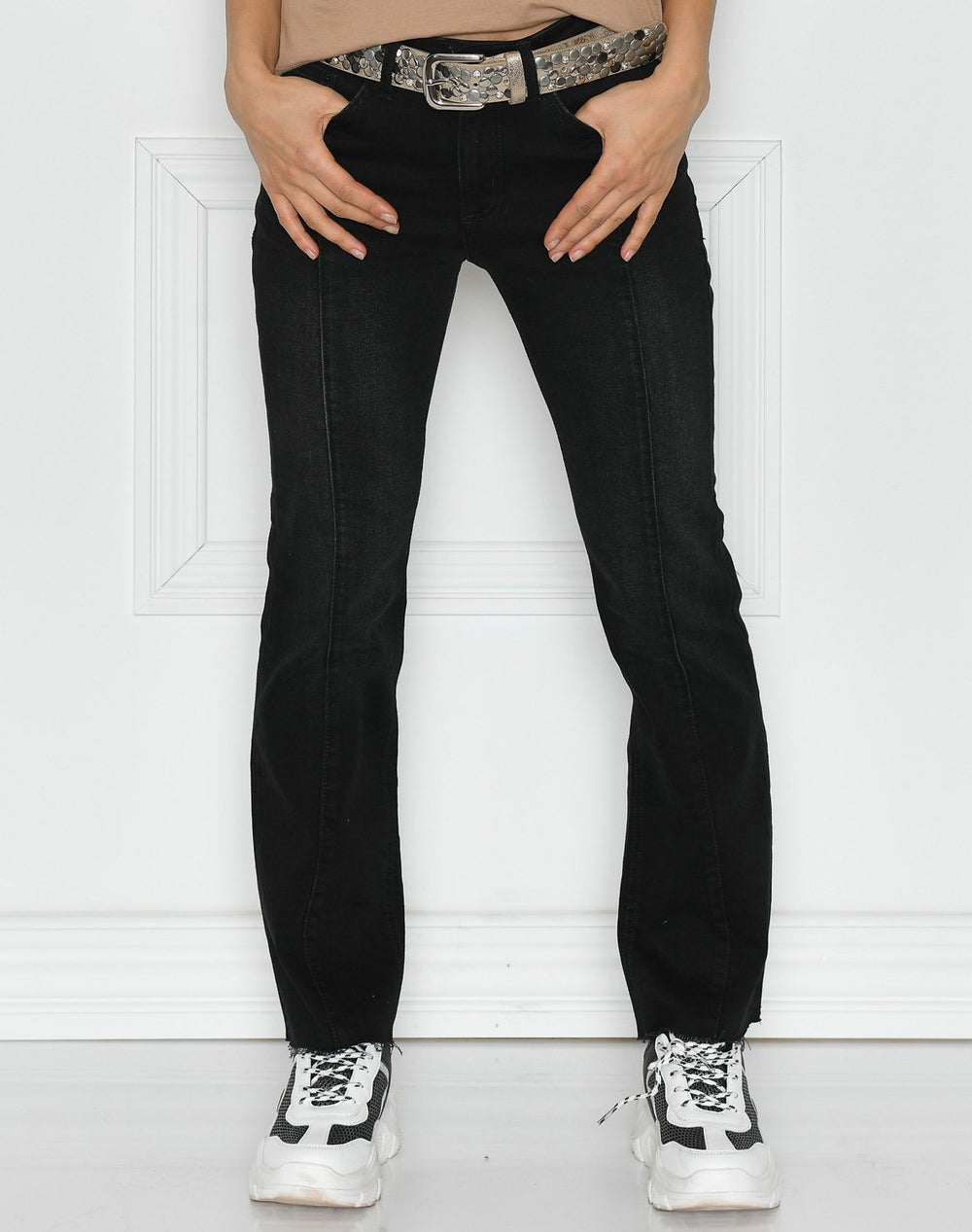 Ichi IHavola NTI pants washed black - Online-Mode