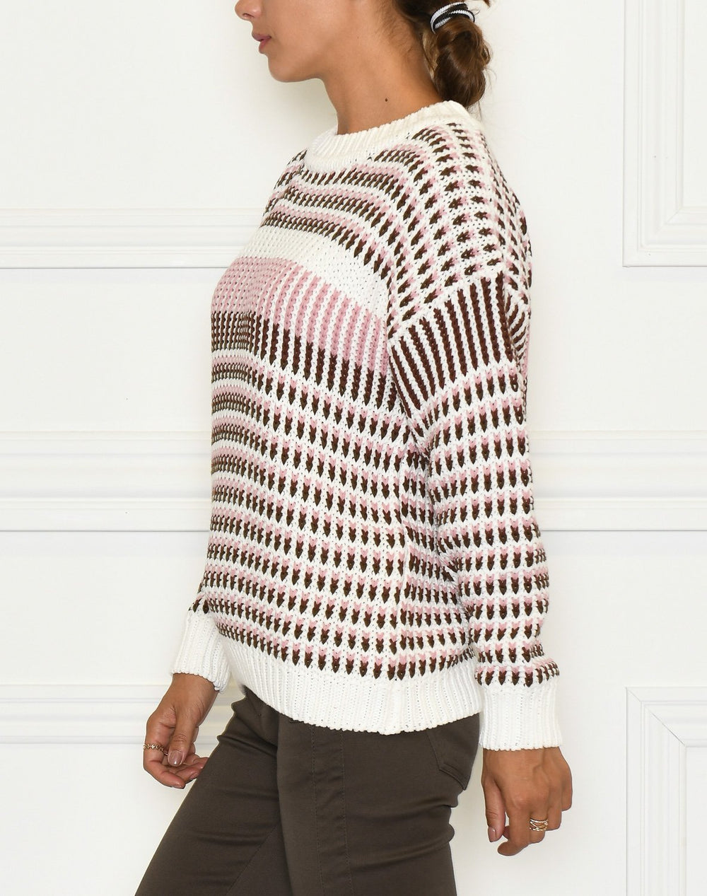 Ichi IHIlina LS pullover cappuccino - Online-Mode