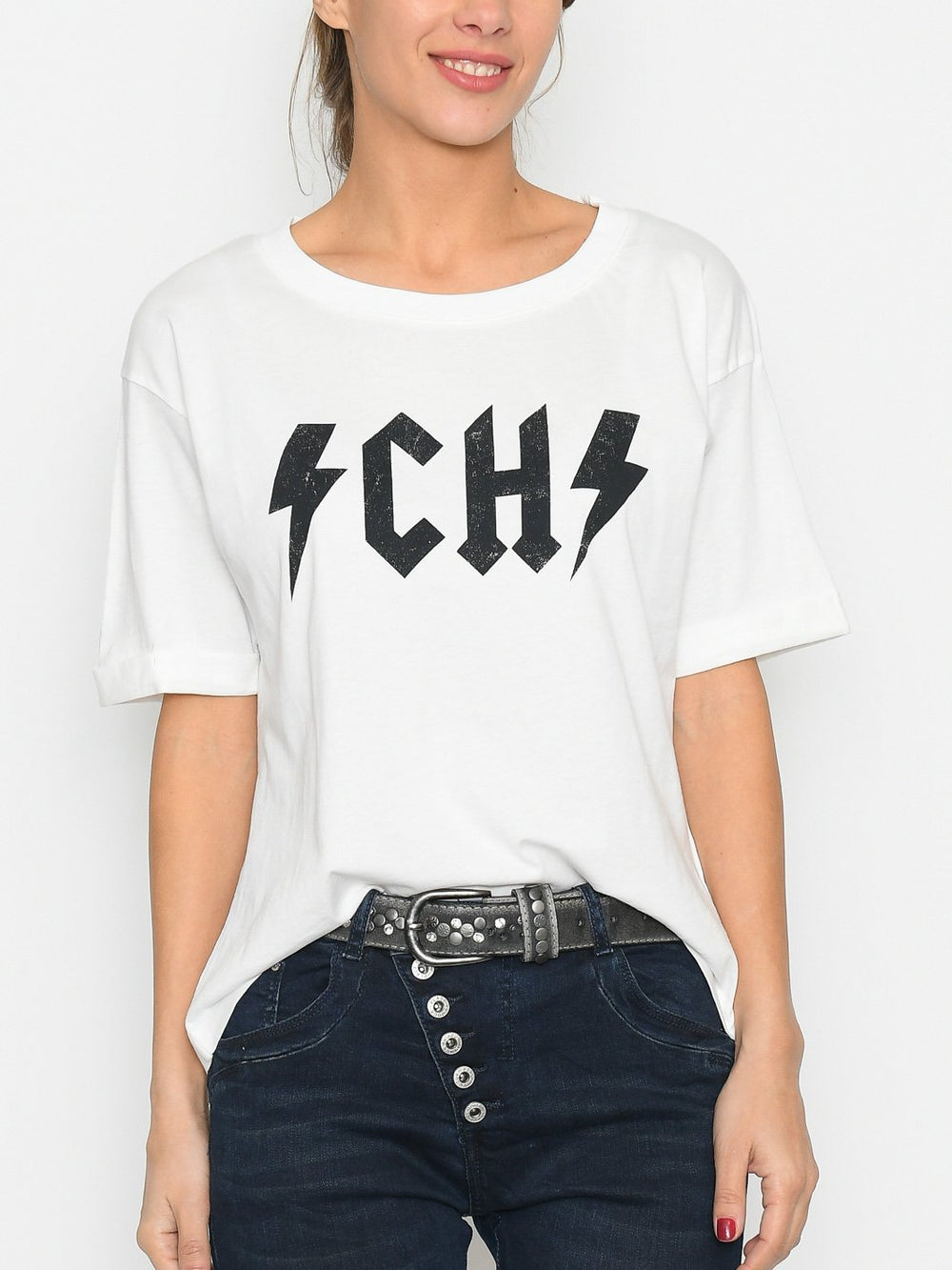 Ichi IHlorelei SS t-shirt cloud dancer - Online-Mode