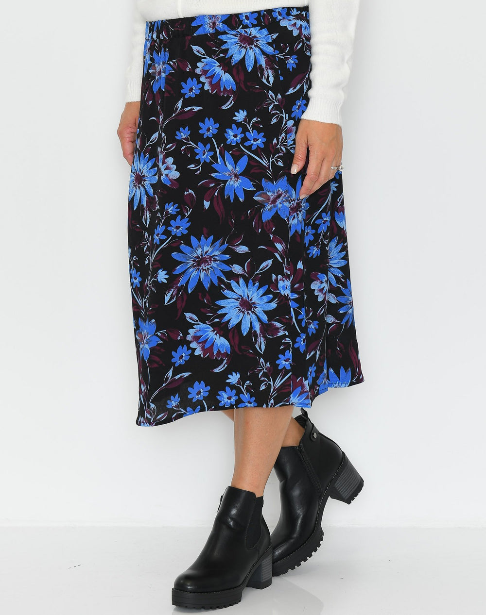 Ichi IHTalia skirt palace blue - Online-Mode