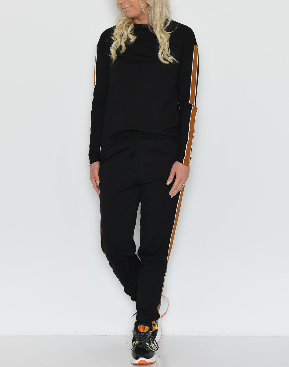 Jamilla sweatpants black/mustard - Online-Mode