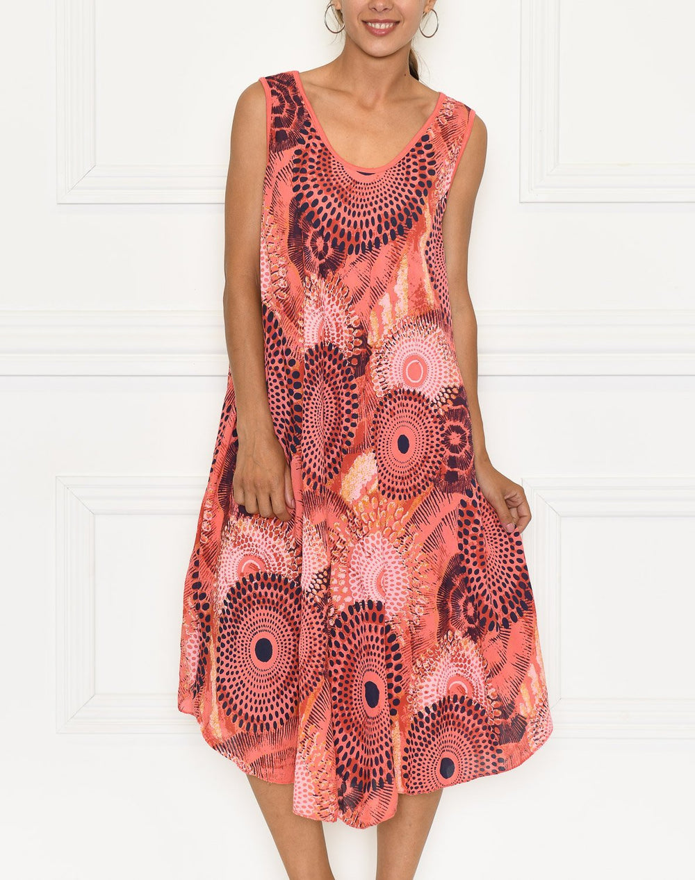 Jimena dress bright coral - Online-Mode