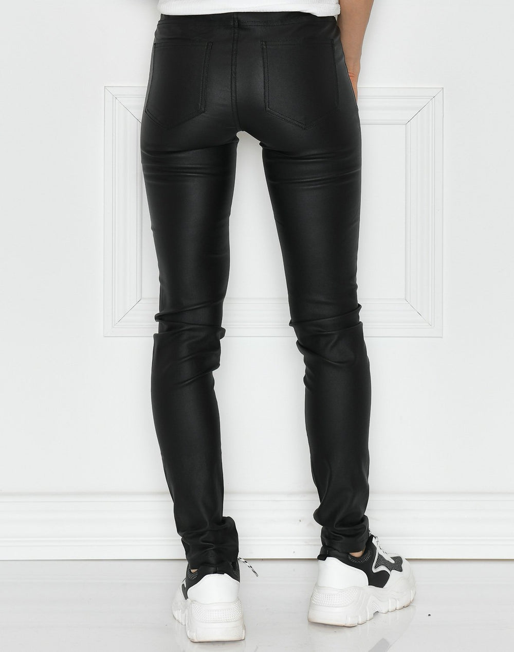 Kaffe Ada coated zip jeggings black deep - Online-Mode