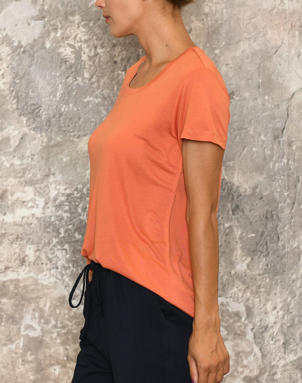 Kaffe Anna O-neck t-shirt dull orange - Online-Mode