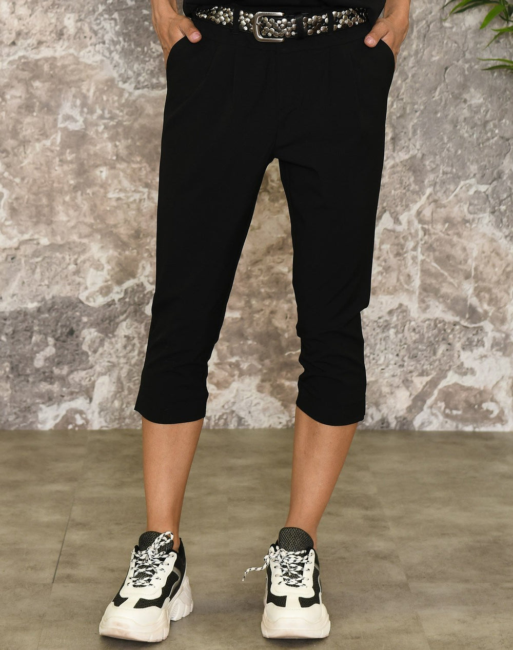 Kaffe Jillian capri pants black deep - Online-Mode