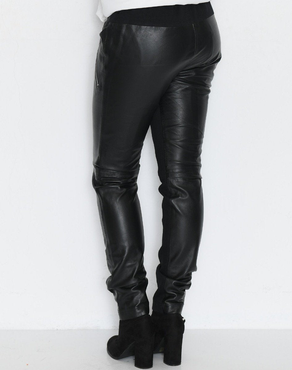Kaffe Jillian Vilja Leather pants black deep - Online-Mode