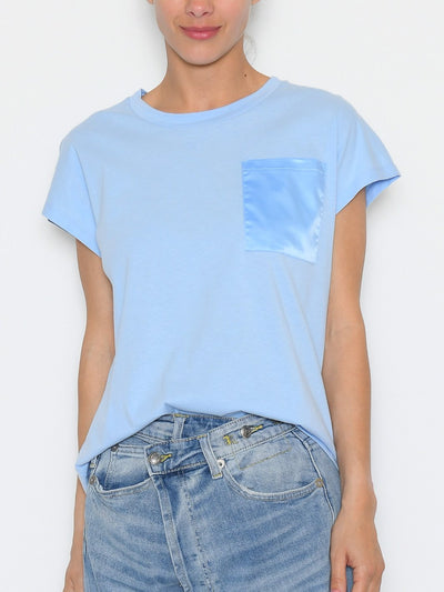 Kaffe KAblanca t-shirt SS chambray blue - Online-Mode