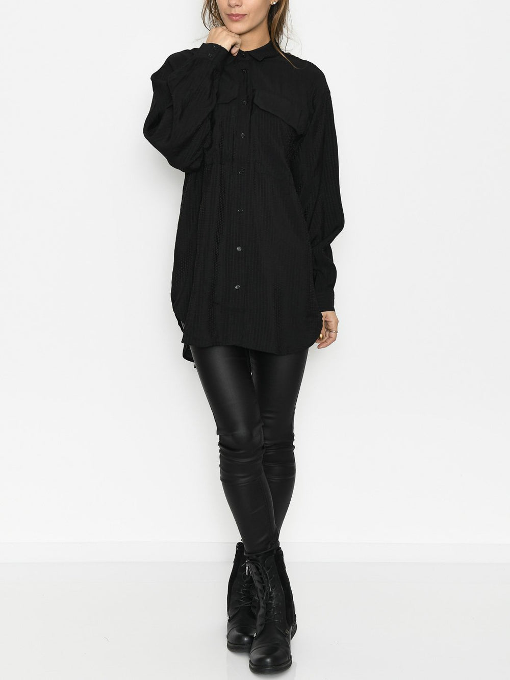 Kaffe KAedmonda shirt black deep - Online-Mode