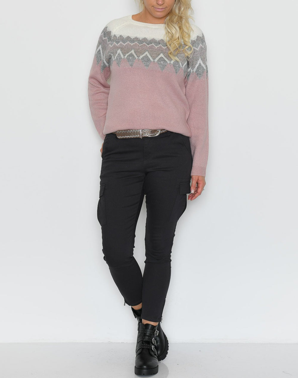 Kaffe KAmandy cropped pants asphalt grey - Online-Mode