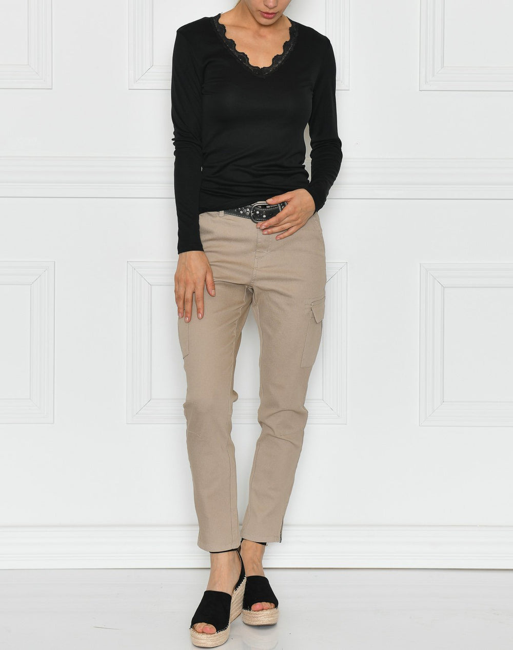 Kaffe KAmandy cropped pants cobbelstone - Online-Mode