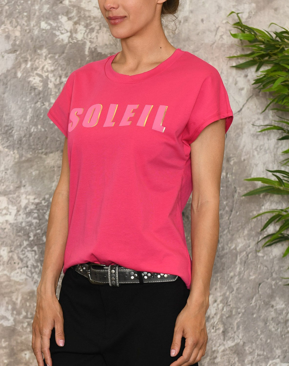 Kaffe KAmeriam t-shirt bright rose - Online-Mode