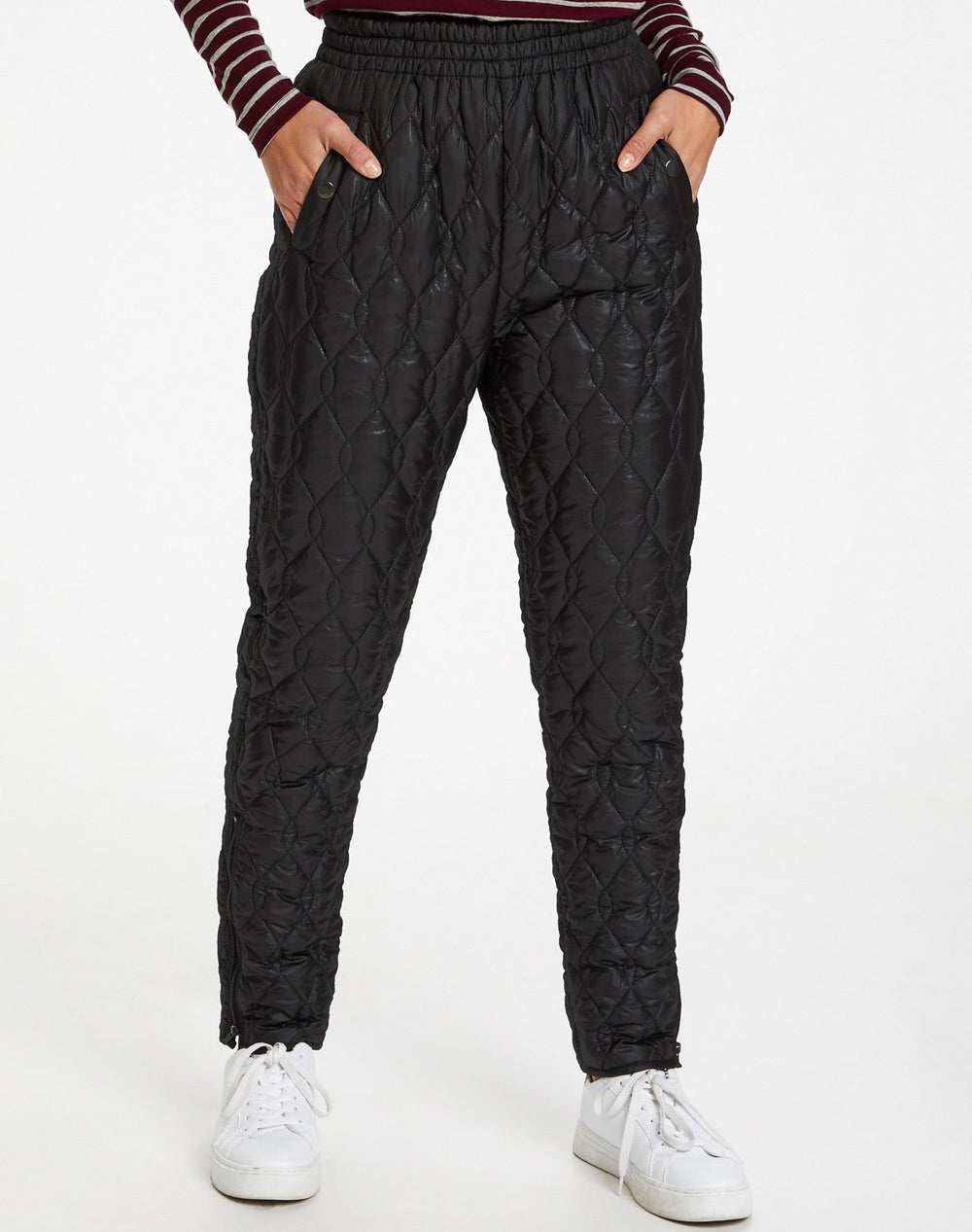 Kaffe KAMina quilted pants black deep - Online-Mode