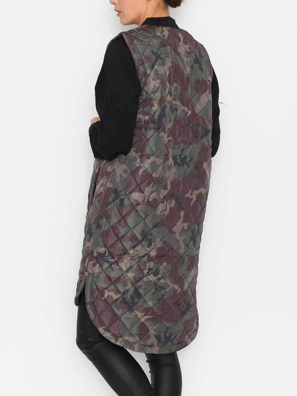 Kaffe KAmoriana quilted waistcoat camouflage print - Online-Mode