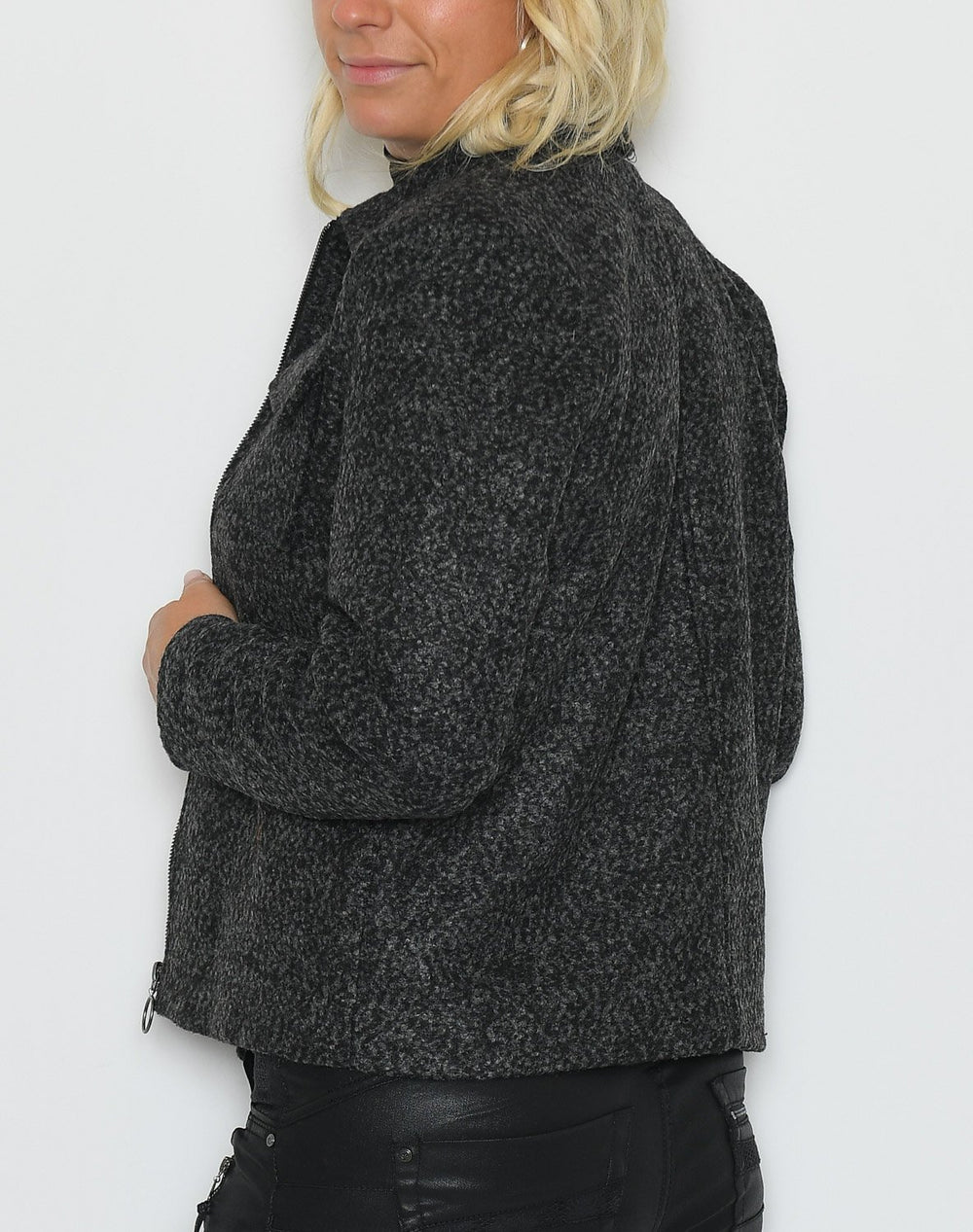 Kaffe KAronja short jacket dark grey - Online-Mode