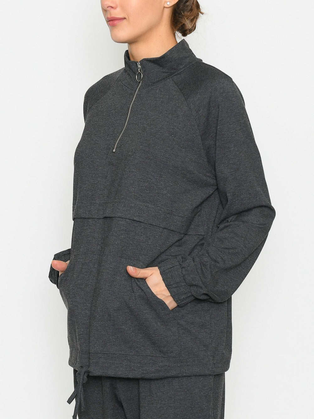 Kaffe KAsiggi sweat pullover dark grey melange - Online-Mode