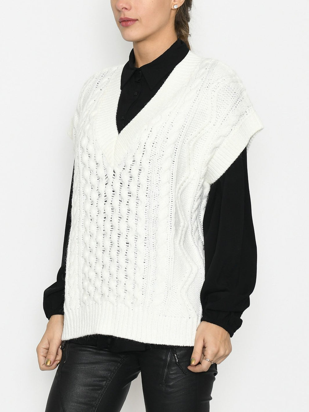 Kaffe KAsulina knit pullover chalk - Online-Mode