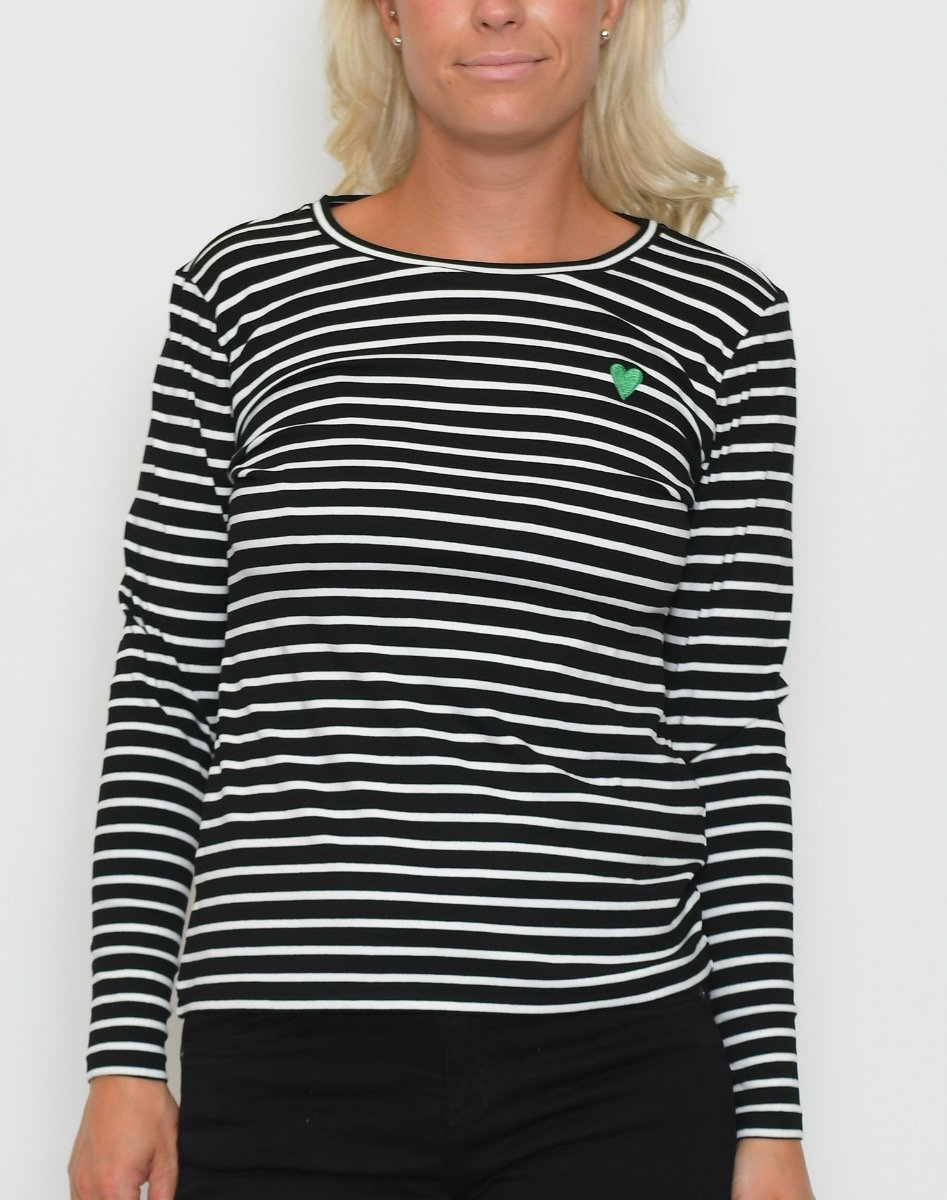 Kaffe Liddy t-shirt black deep - Online-Mode