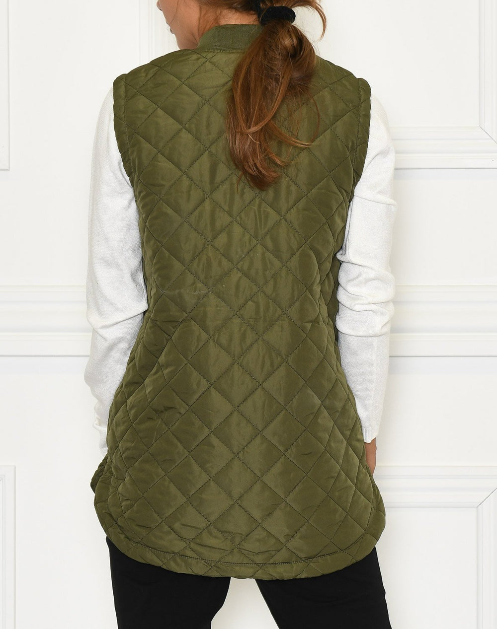 Kaffe Maria quilted waistcoat short grape leaf - Online-Mode