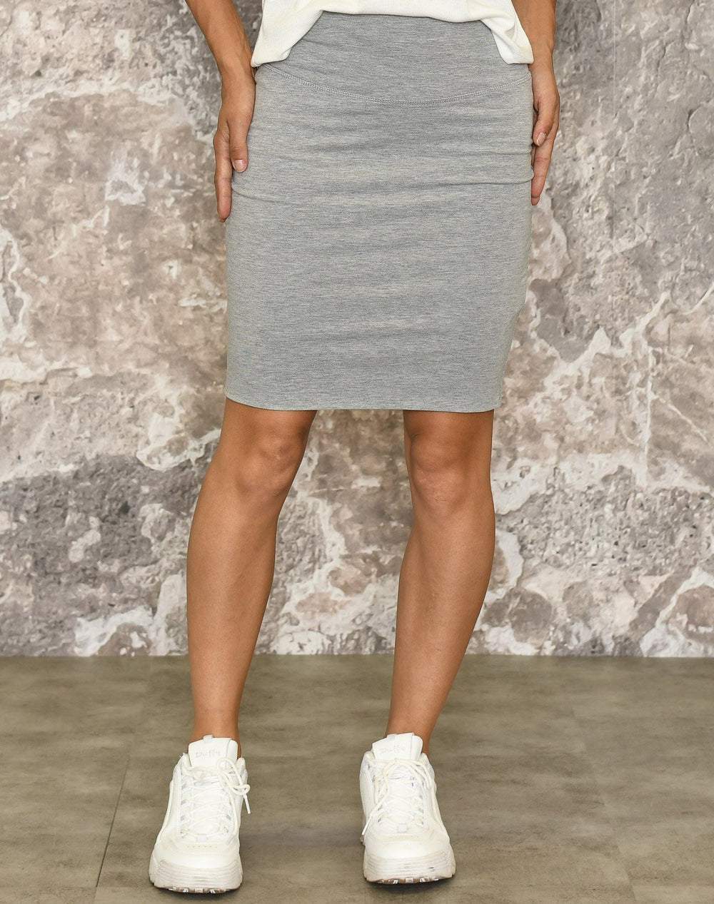 Kaffe Penny skirt grey melange - Online-Mode