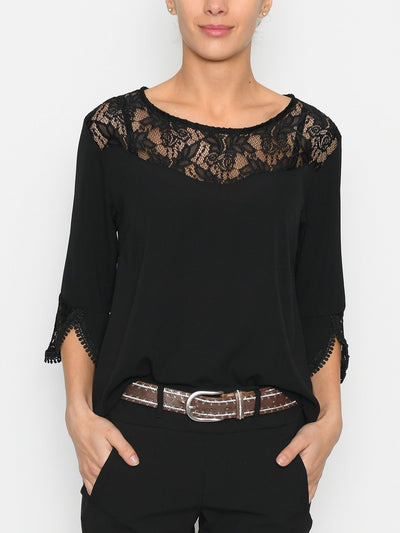 Kayley blouse black - Online-Mode