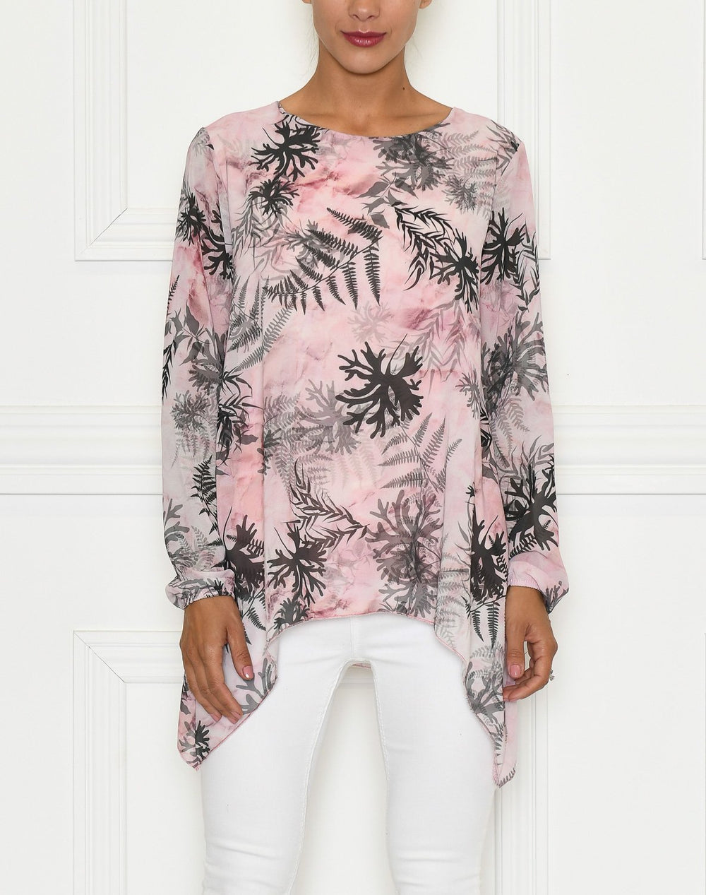 Leana bluse rose mix - Online-Mode