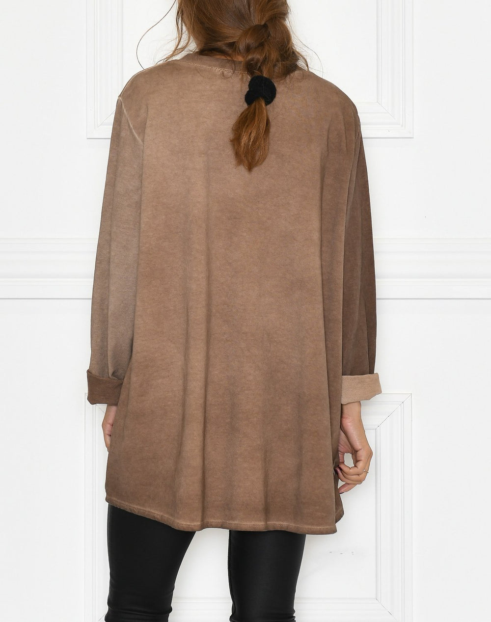 Leonora blouse brown washed - Online-Mode