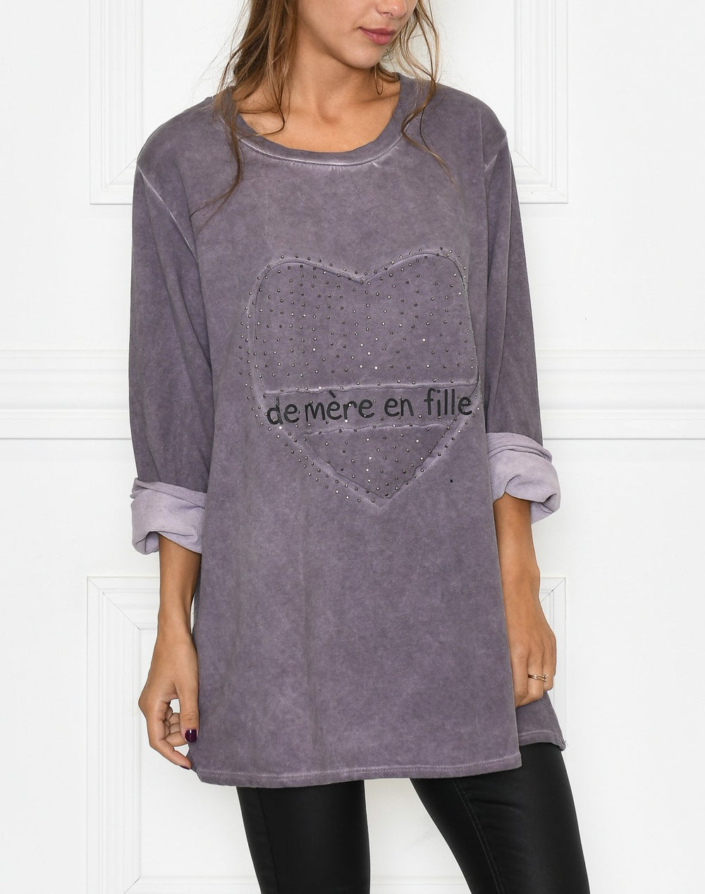 Leonora blouse purple washed - Online-Mode
