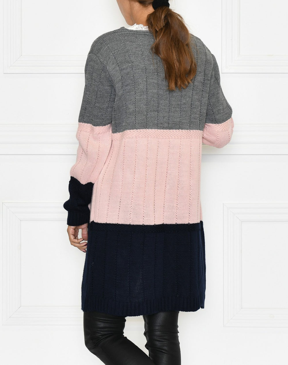Libby cardigan grey mix - Online-Mode