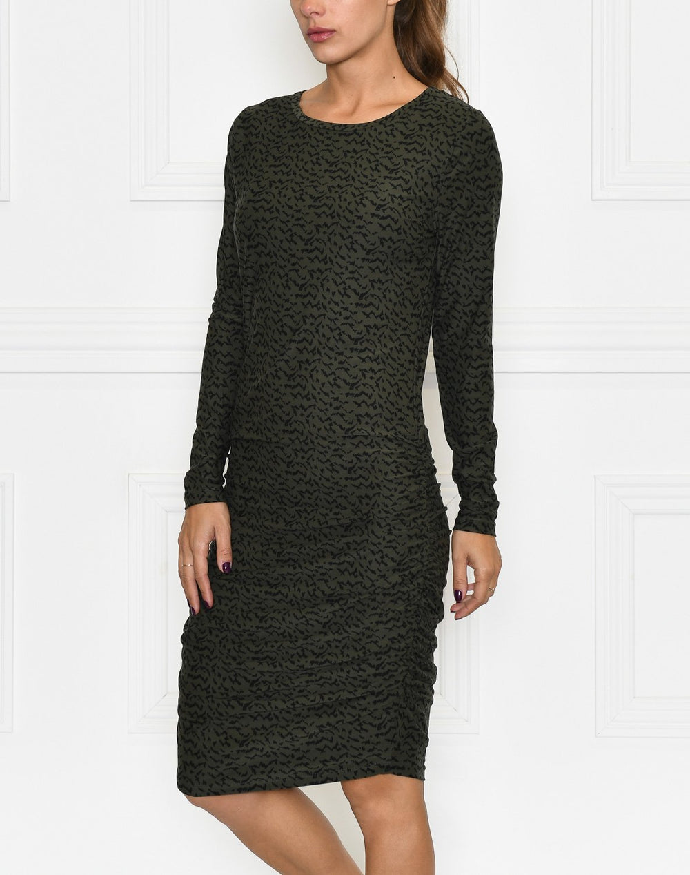 Liberté Alma long dress olive blurred lines - Online-Mode